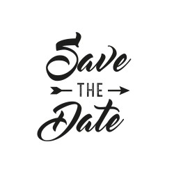 Tampon save the date fleche